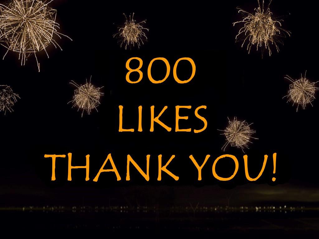800 Likes on Facebook