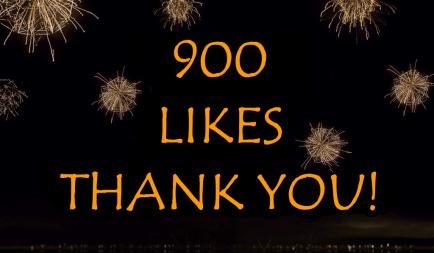 900 Likes on Facebook