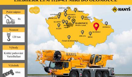 Nový jeřáb míří do Olomouce!