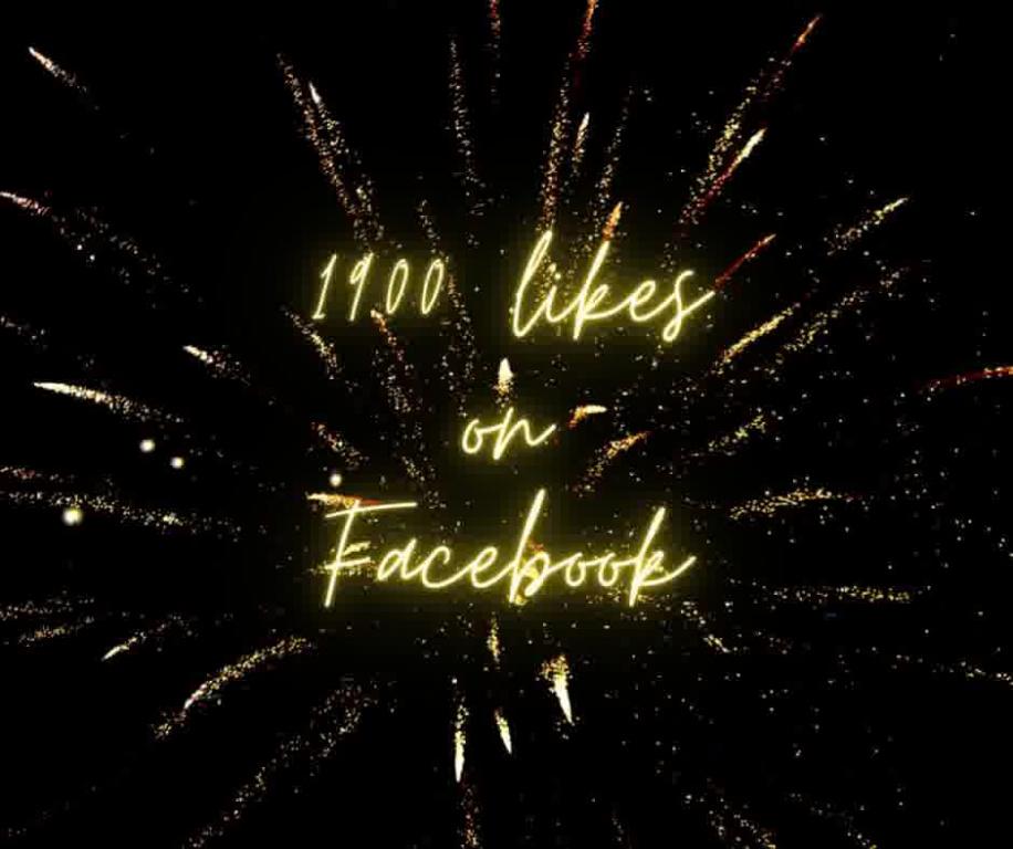 1900 likes on Facebook