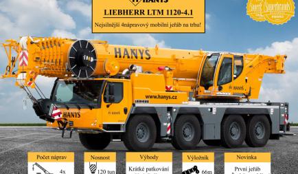 Let us introduce our new mobile crane LIEBHERR LTM 1120-4.1.