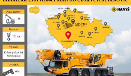 A new crane in České Budějovice!
