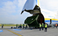 LOADING A GENERATOR ONTO THE WORLD'S BIGGEST AIRPLANE